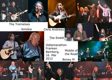 Smokie - Chris Andrews - Middle of the Road - The Tremeloes - The Sweet - Boney M